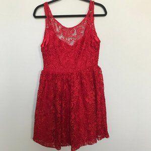 Francesca's Jun & Ivy Red Lace Dress